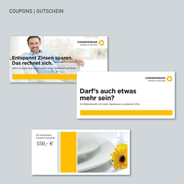 Coupons, Gutschein, Commerzbank