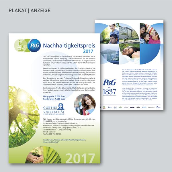P&G Nachhaltigkeitspreis Plakat, Anzeige